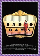 Cartolina Manifesto del Film - Radio Days
