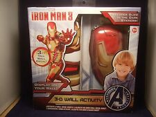 NEW MARVEL IRON MAN 3 - GLOW IN THE DARK 3-D WALL ACTIVITY DECAL