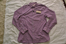 Burberry London 'Pulbury'  Button Down Shirt in Crimson Pink Size XL Brand new