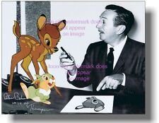 Original Voice Thumper Hand Signed Bambi 1942 Walt Disney NEW 8x10 photograph