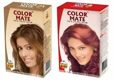 Color Mate Hair Color Cream 2Golden Brown + Burgundy