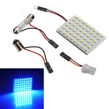 48 SMD Blue Panel Led Car T10 BA9S Festoon Dome Interior Decor Lamp Bulb Light