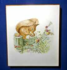 "Schmid Beatrix Potter Squirrel Nutkin Wood Music Box,  ""Waltz of the Flowers"""