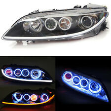 For Mazda 6 2006-2008 Xenon Headlight Head Lights Lamps HID Halo Smoked