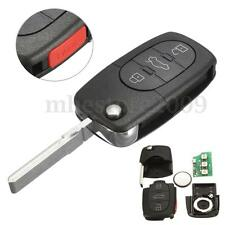 4 Buttons Flip Uncut Key Entry Remote Control Fob For Audi A6 S4 TT 4D0837231E
