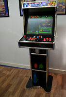 Amazing Bartop Arcade with stand plays hundreds of retro games