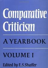 Comparative Criticism: Volume 1, The Literary Canon: A Yearbook