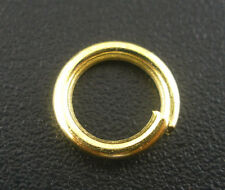 200 BD PCs Gold Plated Open Jump Rings 8x1.2mm