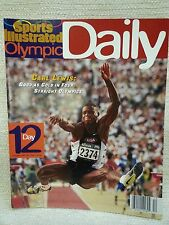 """1996 Sports Illustrated Olympic Daily Program Day 12 """"Carl Lewis"""" 151142"""