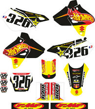 DECAL STICKER KIT IN MX VINYL SUZUKI DRZ 400 HOT WH33LS (NON OEM)