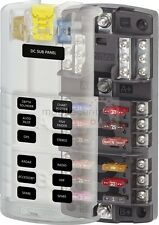 Blue Sea ST 5032 12 way split blade fuse distribution box with negative bus