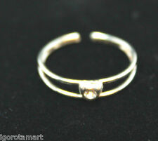 Genuine Solid Sterling Silver Thai Silver Heart Plain Toe Finger Ring Rngs
