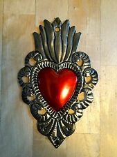 Traditional Mexican Tin Art - Folk, corazones, heart, decoration, decor, love