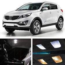 10x White LED Lights Interior Package Kit for 2010 & up Sportage