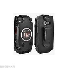Premium Leather Fitted Case Belt Clip Black Casio GZone Ravine 2 C781 Verizon