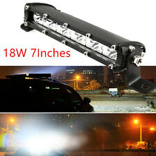 "One 6-LED CREE LED 7"" 18W Autos Off-Road Spotlight Driving Light Bar Waterproof"