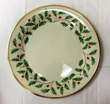 """LENOX """"HOLIDAY"""" HOLLY DINNER PLATE 10 5/8"""" IVORY BONE CHINA NEW MADE IN U.S.A."""
