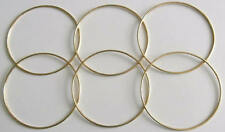 "6 x 5"" Brass Coated Dreamcatcher/Macrame Craft Hoop/Ring & Free Waxed Cord"