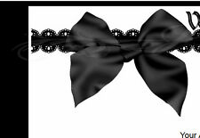 Simple Black Lace &  Bow eBay Auction Template Listing Template
