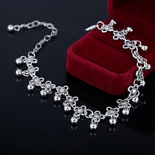 316L Stainless Steel Women Bracelet Stainless Steel Silver Plated Beads Chains