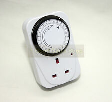 ELECTRONIC PLUG IN 24HR 24 HOUR TIMER SWITCH SOCKET UK MAINS ENERGY SAVER 31132