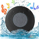 Waterproof Wireless Bluetooth Handsfree Mic In-Car / Shower Mini Suction Speaker
