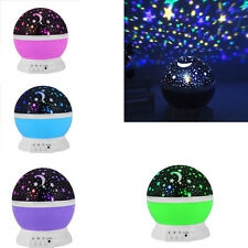 USB Rotation Starry Star Sky Christmas Moon Room Night Light Lamp Projector Gift
