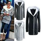 Damen Mantel Winterjacke Fleecejack mit Kapuze in 3 Farben Gr.34-48 Mantel Parka