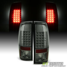 Smoked 2008-2016 Ford F250 F350 F450 SuperDuty LED Tail Lights Lamps Left+Right