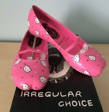 IRREGULAR CHOICE - PINK KITTENS CATS PUMPS SHOES 36 (3) NEW IN BOX!