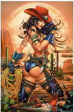 WONDER WOMAN - COWGIRL UP!! Print HAND SIGNED by Jamie Tyndall w COA