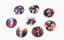 Tokyo Ghoul Set 8 Badge Pins Schoolbag Backpack T Shirt Decorate Student Toy