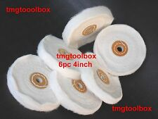 6PC 4''X1/2'' BUFFING POLISHING WHEELS COTTON PADS,  FOR GRINDER