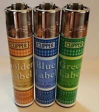 brand new 3 CLIPPER LIGHTERS label collection unused untoched full series