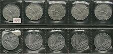 LOTTO DI 5  MONETE LIRE 10 ANNO 1998   FDC FIOR DI CONIO AFFARE VEDI FOTO
