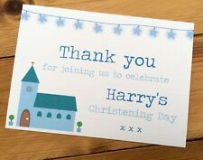 25 Handmade Personalised Christening/Baptism Thank You Cards