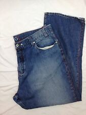 Coogi Men's Embroidered Distressed Baggy Hip Hop Urban Jeans 44 x 35