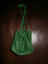 GREEN FELT POUCH WITH DRAW STRING- ROBIN HOOD- COIN PURSE-MEDIEVAL FANCY DRESS