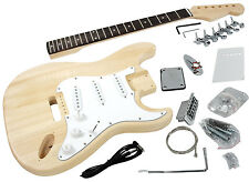 Solo Strat ST Style DIY Guitar Kit, Basswood Body, Maple Neck Rosewood FB, STK-1