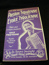 Partition Passion tyrolienne Besson Etoile Tyrolienne Margelli Prud'Homme