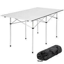 Tavolo Pieghevole In Alluminio.Tectake 140 X 70 X 70 Cm Tavolo Pieghevole Da Camping In Alluminio Grigio 401170