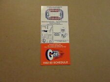 IHL Saginaw Gears Vintage 1982-83 Logo Pocket Schedule