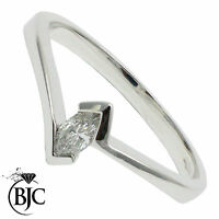 BJC® 9ct White gold Diamond 0.15ct size N Solitaire engagement ring R90
