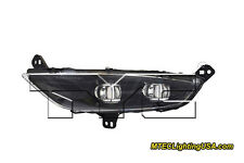 TYC NSF Left Side LED Fog Light Assembly for Chrysler 200 2015-2016 Black