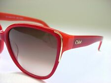 New Authentic Chloe CE601S 673 Red/Coral/Brown Gradient 57mm Sunglasses