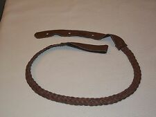 LAKOTA LEATHERS FLAT BRAIDED mandolin strap US made Chocolate ELK LEATHER!