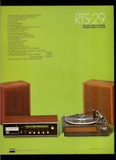 Rare BSR RTS-28A/29 AM FM 8 Track Stereo Receiver Turntable Dealer Sheet Page