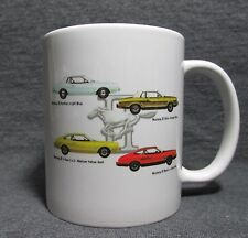 1974 Ford Mustang II Line Coffee Cup, Mug - New - Classic 70's - Factory Colors