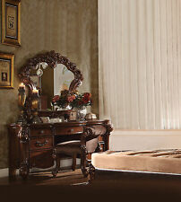 3PCS Vendome Bedroom Vanity Set In Cherry Finish