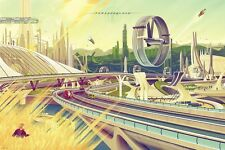 "Mondo Disney Tomorrowland Regular Poster Print Kevin Tong 24"" X 36"" Ed 375"